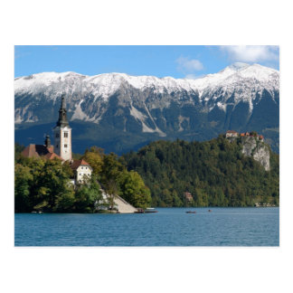 Carte Postale La Slovénie, saignée, lac saigné, île saignée,
