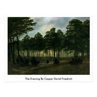Carte Postale La soirée par Caspar David Friedrich