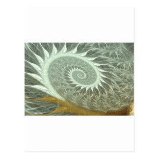 Carte Postale La spirale cosmique - spirale d'or de la géométrie
