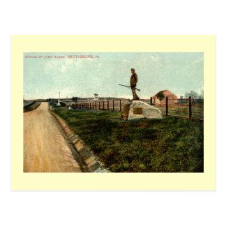 Carte Postale la statue c1915 de John brûle GETTYSBURG