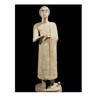 Carte Postale La statue de la grande déesse, de indiquent Asmar