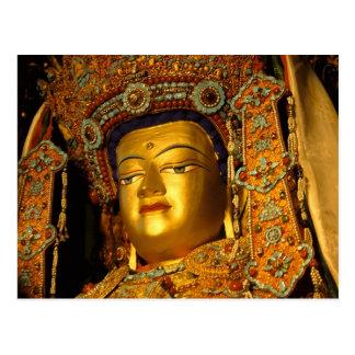 Carte Postale La statue dorée de Jowo Bouddha, temple de