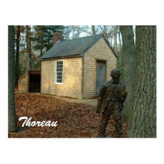 Carte Postale La statue et le cabine de Thoreau