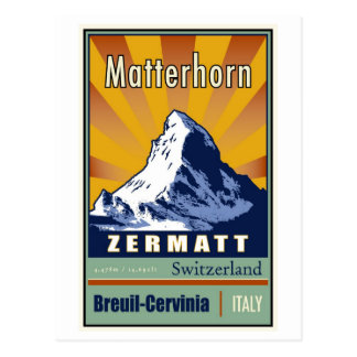 Carte Postale La Suisse