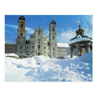 Carte Postale La Suisse, image vintage, monastère d'Einseideln,