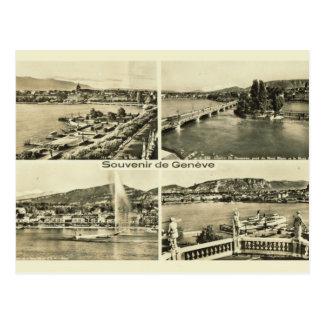 Carte Postale La Suisse vintage Genève 1912