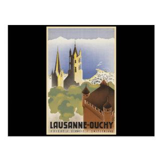 Carte Postale La Suisse vintage Lausanne-Ouchy