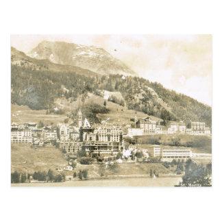 Carte Postale La Suisse vintage, St Moritz 1906