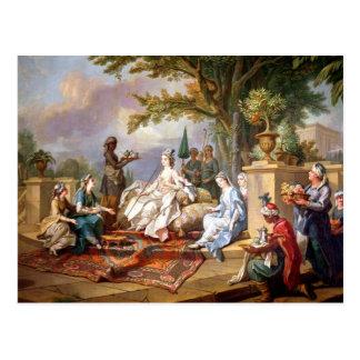 Carte Postale La Sultanine servie par ses eunuques