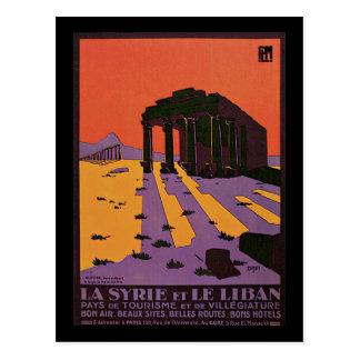 Carte Postale La Syrie et le Palmyre liban