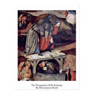 Carte Postale La tentation de St Anthony par Hieronymus Bosch
