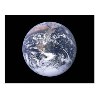 "Carte Postale """" La terre de marbre bleue semblent d'Apollo 17"
