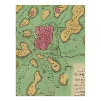 Carte Postale La terre de Moriah ou de Jérusalem