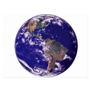 Carte Postale La terre de planète