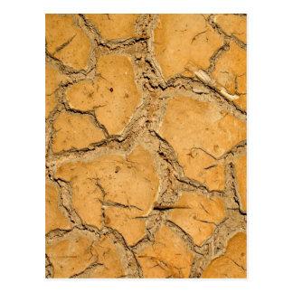 Carte Postale la terre de sol sec/fente