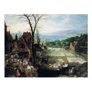 Carte Postale La terre du marché et de blanchiment, 1620-22