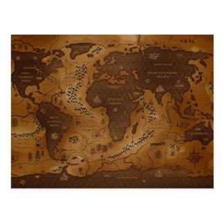 Carte Postale La Terre-Inversed de planète