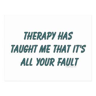 Carte Postale La thérapie m'a enseigné que c'est tout votre