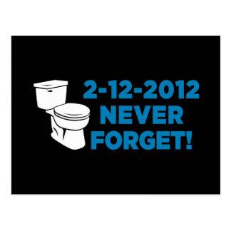 Carte Postale La toilette 2012 affleurante n'oublient jamais