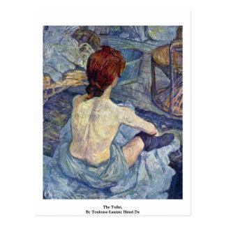 Carte Postale La toilette, par Toulouse-Lautrec Henri De