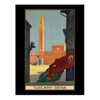 Carte Postale La Toscane Sienne