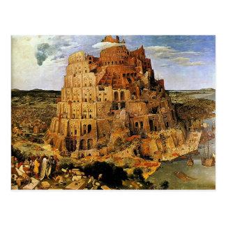 "Carte Postale La tour de Pieter Bruegel ""de Babel"" (circa 1563)"