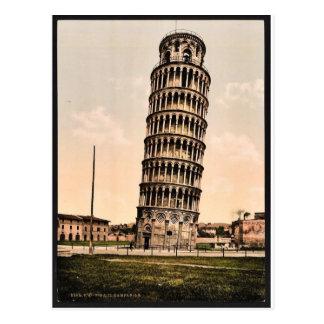 Carte Postale La tour penchée, classique Photochrom de Pise,