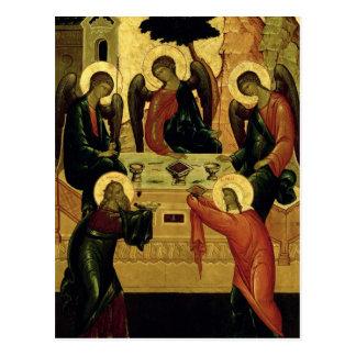 Carte Postale La trinité sainte, école de Novgorod, XVème siècle