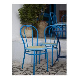 Carte Postale La Tunisie, Sidi Bou a dit, chaises de café