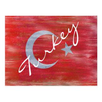 Carte Postale La Turquie a affligé le drapeau turc