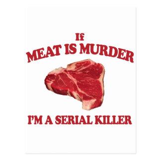 Carte Postale La viande est meurtre
