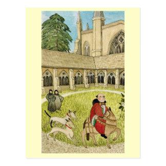 Carte Postale La vie cloist de cathédrale en joyeuse Angleterre,