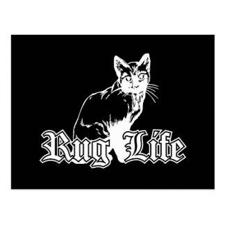Carte Postale La vie de couverture - chat de Gangsta