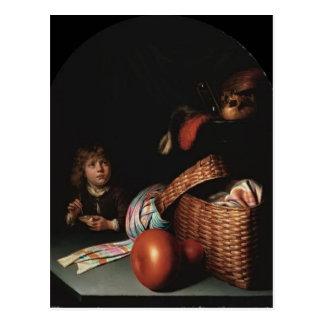 Carte Postale La vie de Gerrit Dou toujours, bulles de savon de