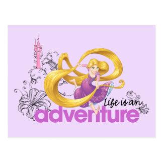 Carte Postale La vie de Rapunzel   est une aventure