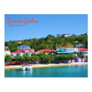 Carte Postale La vie d'île sur St John