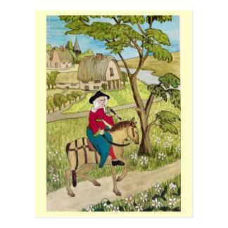 Carte Postale La vie en joyeuse Angleterre, montant par un