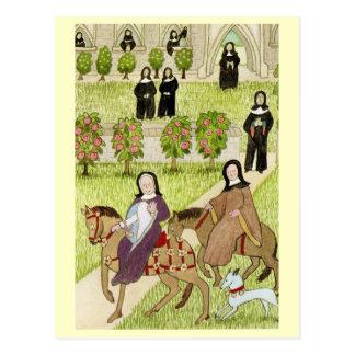Carte Postale La vie en joyeuse Angleterre, nonnes