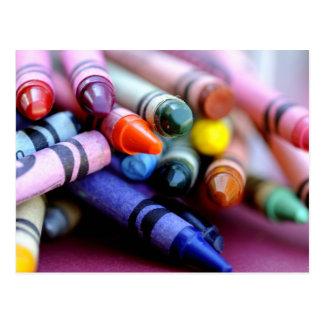 Carte Postale La vie est comme une boîte de crayons