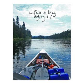 Carte Postale La vie est un voyage, l'apprécient ! - Série 2