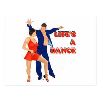 Carte Postale La vie est une danse