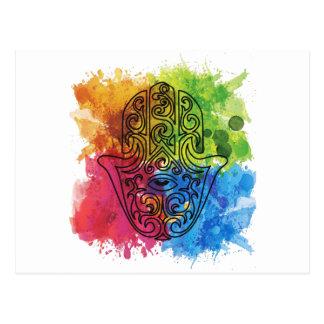 Carte Postale La vie indienne vibrante d'Asiatique de symbole de