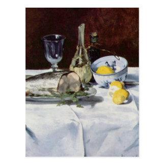 Carte Postale La vie toujours avec le saumon - Edouard Manet