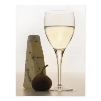 Carte Postale La vie toujours du vin, du fromage et de la figue