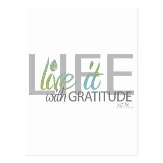 Carte Postale La VIE vivante il avec gratitude
