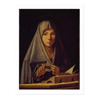 Carte Postale La Vierge Annunciate (l'huile sur le panneau)