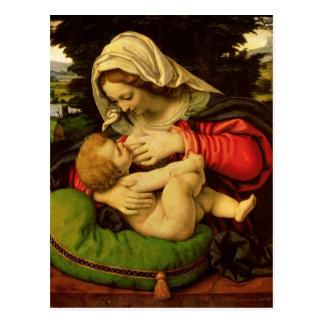 Carte Postale La Vierge du coussin vert, 1507-10