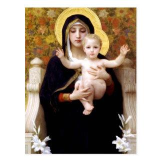 Carte Postale La Vierge du Lillies