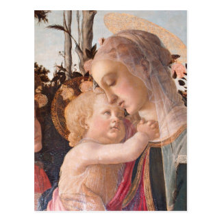 Carte Postale La Vierge et l'enfant d'Alessandro Botticelli