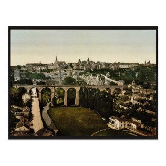 Carte Postale La ville, classique Photochrom du luxembourgeois